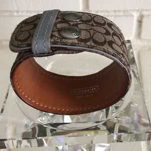 COACH Bracelet - Leather and material logo